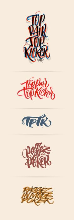 Really cool script fonts. I love the flow of the strokes in them. It gives it a carefree and expressive vibe.