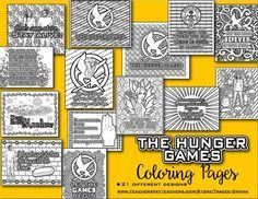 Hunger Games Coloring Book Pages for Teens and Adults Ways To Reduce Stress, Hunger Games Catching Fire, Hunger Games Trilogy, Mockingjay, Coloring Book Pages, Colorful Pictures, Adult Coloring, Literature, Teaching