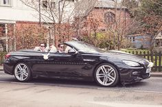 Groom and best men in wedding car before wedding at Sopley Mill. Photography by one thousand words wedding photographers