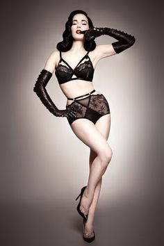 """Madame X"". Beautiful vintage pin-up style lingerie by Dita Von Teese."