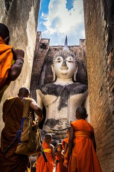 Sukhothai by Suntisak P Chakorn on Travel Honeymoon Backpack Backpacking Vacation Statues, Buddhist Monk, Buddhist Art, Laos, One Night In Bangkok, Thailand, Meditation Music, Beautiful Places To Visit, Asia Travel