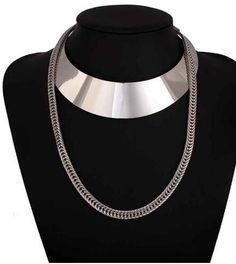 b162e26fe17c Gold Chain Metal Choker Necklace Collier Womens Chunky Necklace