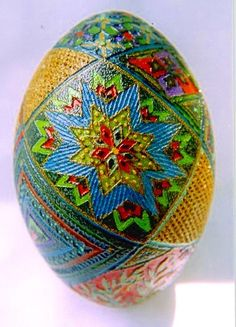 Acid-etched Emu egg. I know you never got your lamp, but maybe a pretty egg will do:)
