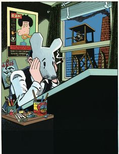 """Of Mice and Politics: Celebrating the Work of Art Spiegelman. """"Self-Portait with Maus Mask"""""""