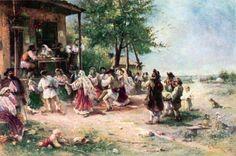 Theodor Aman, Round-Dance (Hora) At Aninoasa Human Pictures, Academic Art, Sculpture Painting, Ap Art, Art Database, Beautiful Drawings, Aesthetic Art, Art History, Fine Art America
