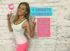 4 Minute Workout - Including The Anti-Cellulite Jump and Waist and Arm Toner Toning Workouts, Mini Workouts, Cheer Workouts, Workout Songs, Arm Exercises, Workout Videos For Women, Workout Women, 4 Minute Workout, Waist Workout