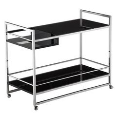 Shelf Bar Cart Black by RS Collection