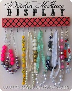.:Tutorial Tuesday - Wooden Necklace Display:.