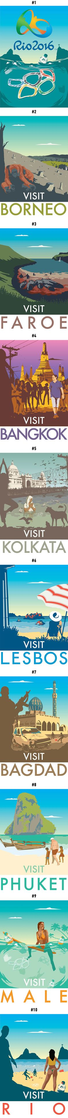 Honest Travelling Posters. Will You Still Travel To These Cities? - 9GAG