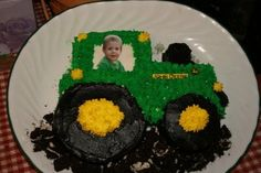 Personalized Tractor Cake | creativeplayhouse