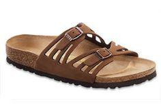 Birkenstock Womens GRANADA Cocoa Brown Nubuck Leather Sandals Shoes P9232
