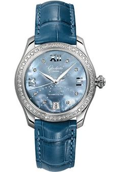 Glashutte Original Watches - Ladies Collection Serenade - Steel - Blue Mother of…