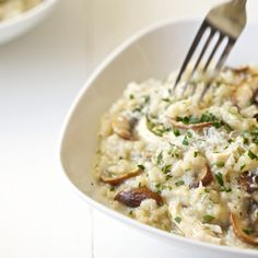Wine Recipes, Cooking Recipes, Healthy Recipes, Risotto Receita, Risotto Recipes, Chicken Mushroom Risotto Recipe, Quick Risotto Recipe, Mushroom Asparagus Risotto, Stuffed Mushrooms