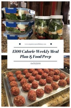 1500 Calorie Weekly Meal Plan & Food Prep {April - Organize Yourself Skinny - planning Planning Budget, Meal Planning, Frozen Smoothie Packs, Health Blog, Macro Meal Plan, 1500 Calorie Meal Plan, Clean Eating, Macro Meals, Meal Prep Containers