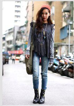 37 Ideas fashion grunge style inspiration for 2019 Fashion 90s, Tokyo Street Fashion, 1950s Fashion, Grunge Fashion, Autumn Fashion, Fashion Outfits, Fashion Black, Style Fashion, Fashion Music