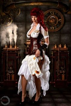 Check Out 22 Of The Hottest And Steamy Steampunk Girls You'll Ever See Gothic Steampunk, Arte Steampunk, Steampunk Pirate, Steampunk Cosplay, Steampunk Design, Steampunk Clothing, Steampunk Fashion, Gothic Fashion, Steampunk Shoes