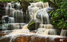 Somersby Falls, Australia - Waterfalls Wallpaper ID 1533093 - Desktop Nexus Nature Rock Steps, Waterfall Wallpaper, Cascade Water, Water Images, World Of Color, Beautiful Space, Amazing Nature, Places To Go, Australia