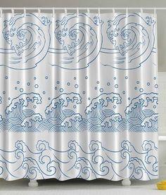Ocean Waves Print Polyester Fabric Shower Curtain Ambesonne http://www.amazon.com/dp/B013PCV8SM/ref=cm_sw_r_pi_dp_87N4vb186M4QZ