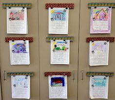 Kindergarten Lifestyle: Guest Blogger - Michelle from Apples and ABCs - great way to hang student's work - easy how-to