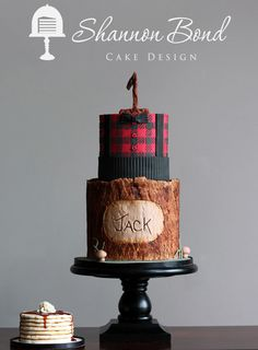 Lumber Jack 1St Birthday Cake