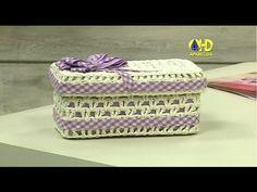 Vida com Arte   Caixa em crochê endurecido por Carmem Freire - 31 de Janeiro de 2015 - YouTube