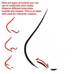 how to draw anime noses step 3