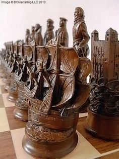 Elizabethan-themed chess set