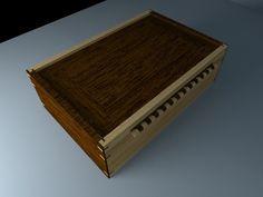 Caja joyero elaborada en cedro Nogal y cedro marfil.