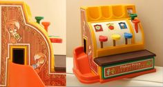 Fisher Price vintage toy  The cash register.  Anyone need to go shopping? 1980