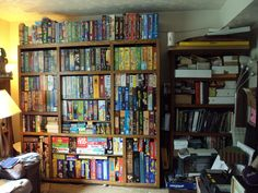 Organize your Board Game Collection! Board Game Storage, Board Games, Theatre Games, Theater, Shelfie, Store Displays, Tabletop Games, Game Night, Sweet Home