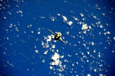 Soyuz spacecraft on approach to the ISS.