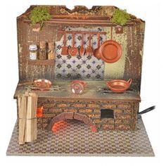Cucina con effetto fiamma cm 20x14 con pentole | vendita online su HOLYART