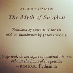 camus the myth of sisphus writers their words albert camus the myth of sisyphus one of our favorite pieces of literature