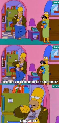 Homers Plan For Halloween!