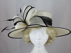 Failsworth Millinery Loops Events Hat in Ivory   Black - 7328.  FascinatorSinamay HatsWedding ... d63735cd968f