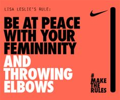 Lisa Leslie- Female athletes can be ladies too Basketball Is Life, Basketball Teams, Basketball Motivation, Basketball Floor, Basketball Tickets, Basketball Funny, Krav Maga, Jiu Jitsu, Mantra