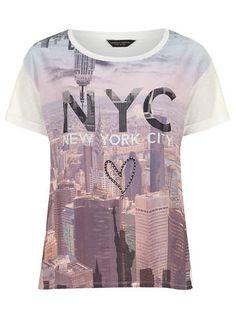Ivory NYC motif tee