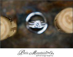 Wedding rings  Paris Mountain Photography Chateau Elan Wedding