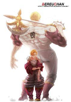 Lord Escanor-the seven deadly sins Seven Deadly Sins Anime, 7 Deadly Sins, Otaku Anime, Manga Anime, Anime Art, Anime Comics, Fanarts Anime, Anime Characters, Lord Escanor