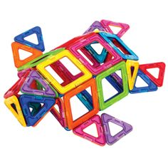 Magformers Rainbow 62 pc Set - Explore and experiment with Magformers magnetic construction set.