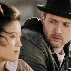"""""""We be datin""""  —  Toby Curtis to Happy Quinn #quintis #teamscorpion Love Toby and Tappy"""