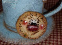 Galletas y cacao patrón 238  muñeca primitiva de patrón