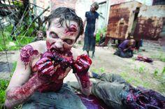 Look at my friend he's a weird o I'm joking he's not me friend he's a zombie aaaaaaaa! Lol