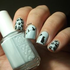 The Clockwise Nail Polish: Essie Find Me an Oasis & Cat Nail Art