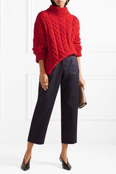 Mansur Gavriel | Cable-knit cashmere turtleneck sweater | NET-A-PORTER.COM