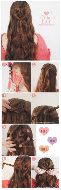 Many people don't know how to care for their hair. You are the only one who can take proper care of your hair. You can use this article to guide you, and you can use the advice it contains to help you take better care of your hair. Valentine's Day Hairstyles, Elegant Hairstyles, Pretty Hairstyles, Wedding Hairstyles, Straight Hairstyles, Braided Hairstyles, Latest Hairstyles, Heart Hair, Tips Belleza
