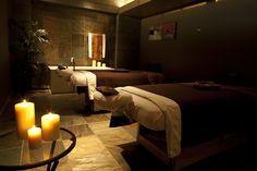 Couples massage room at Coeur D'alene Casino Resort