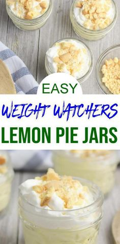 EASY Weight Watchers Dessert & The BEST Weight Watchers Recipe & Lemon Pie in a Jar {Easy & No Baking}! Weight Watchers dessert that you can mix in less than 10 minutes. controller # deserts Source by KimspiredDIY Weight Watcher Desserts, Weight Watchers Diet, Weight Watchers Breakfast, Breakfast Low Carb, Fast Food Breakfast, Breakfast Crockpot, Breakfast Cereal, Breakfast Cookies, Breakfast Dessert