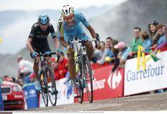 Vuelta a España 2014 - Stage 15: Oviedo - Lagos de Covadonga 152.2km - Fabio Aru (Astana) and Chris Froome (Team Sky)
