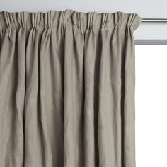 Rideau doublé pur lin à plis flamands Lincoln